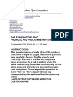 Bar Examination Questionnaires