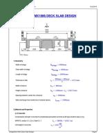 Mathcad - Bridge (8mx18m) Deck Slab Design