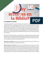 Revista Adventista - ¿Hay Errores en La Biblia?