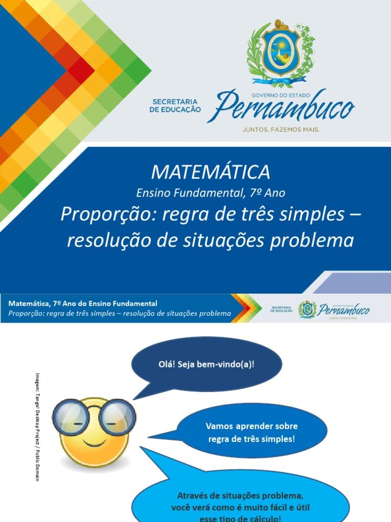 Proporcao Regra De Tres Simples Resolucao De Situacoes Problema 1 Pptx Ensino De Matematica Science