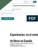 Experiencias en el comercio electrónico de libros en España | Comercio electrónico | Correo
