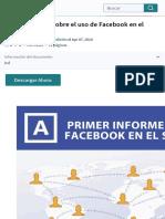 Primer informe sobre el uso de Facebook en el sector editorial | Servicio de redes sociales | Facebo