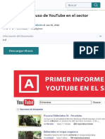 Informe sobre el uso de YouTube en el sector editorial | Youtube | Facebook