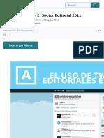 Uso de Twitter en El Sector Editorial 2011 | Gorjeo | Facebook