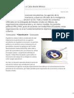 contralinea.com.mx-La CIA rendía cuentas a Cuba desde México