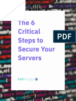 The 6 Critical Steps to Secure Your Servers