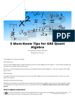 5 Tips You HAVE to Know to Score Well in GRE Quant - Algebra