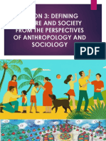 LESSON 3 - DEFINING CULTURE AND SOCIETY FROM THE PERSPECTIVES OF ANTHROPOLOGY AND SOCIOLOGY