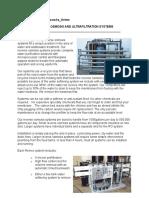 Ion Exchange Vs Ultra filtration System