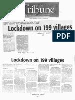 Daily Tribune, Jan. 21, 2020, Lockdown on 199 villages.pdf