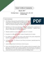 CBSE-2017-Mathematics-All-India-Answer-key