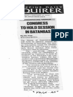 Philippine Daily Inquirer, Jan. 21, 2020, Congress to hold session in Batangas.pdf