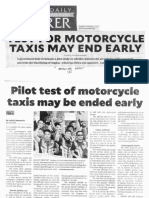 Philippine Daily Inquirer, Jan. 21, 2020, Test for motorcycle taxis may end early.pdf