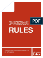 Victorian Labor Rules 27 May 2018