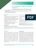 Caesarean scar ectopic pregnancy diagnostic challengesand management options