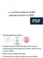 11 Genuine ways to make passive income