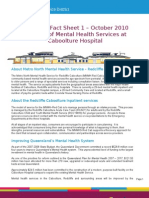 Community Fact Sheet 1 - Caboolture Hospital - Mental Health
