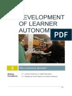 Development of Learner Autonomy