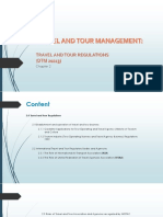 2.0 Travel and Tour Regulations