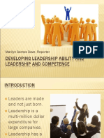 Leadership ability and competency