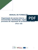 Organização do serviço interno - sistema de encomendas, identificação, registo de peças e processo de requisição de produtos em stock - Cópia