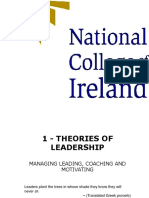 01 - Theories of leadership - Leading, coaching and motivating - Chapter 5.ppt