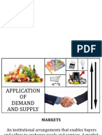 Application of demand and supply