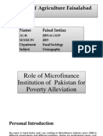 Micro finance contribution in poverty alleviation