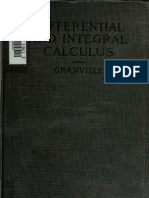 Elements of the Differential and Integral Calculus - W. Granville