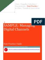 Managing Digital Channels Best Practice Guide
