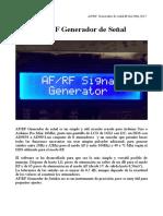 AFRFGenerador generador de rf