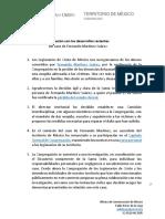 Comunicado Mx Sobre Desarrollos Recientes Fernando Martinez