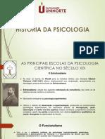 AULA DE ESCOLAS PSICOLÓGICAS XIX E XX