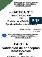PRACTICA N° 1 IDENTIFICACION DOFA.ppt