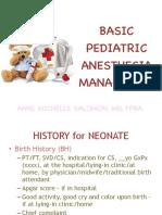 PEDIATRIC Anes basic