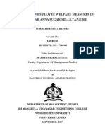 safety and welfare measures project report