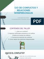 MANEJO DE CONFLICTOS Y RELACIONES INTERPERSONALES