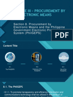 RULE III – PROCUREMENT BY ELECTRONIC MEANS