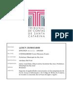 Denúncia Concessão de Água e Esgoto só peça DEN 20-00014008