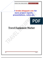 Marketing Project on Indian Luggage Industry
