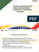 REQUISITOS PARA GRADO PNFA DIRECCION Y SUPERVISION .ppt