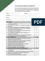 Evaluacion de Modulo de Formacion