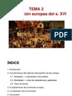 TEMA 2 - La población europea s. XVI