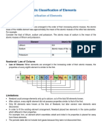 Periodic Classification of Elements Notes