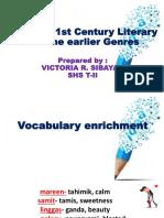 Various 21st Century Literary Genres.pptx