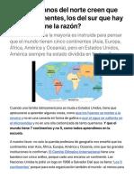 Los americanos del norte creen que hay 7 continentes, los del sur que hay 5 ¿quién tiene la razón? | Noticias Univision Trending | Univision