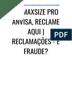 → Maxsize Pro Anvisa, Funciona? [SAIBA Toda AQUI & Agora]