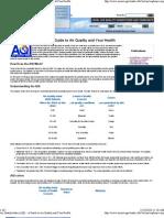 AQI and Human Health