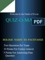 Business Quiz at SCMHRD
