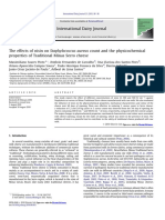 2011- 206- The effect of nisin on staphylococcus aureus and the physicochemical properties of cheese